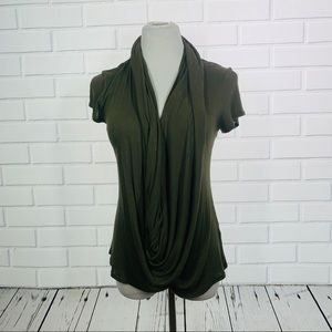 10/$25🦋Forever 21 Olive Green Wrap Blouse - Small